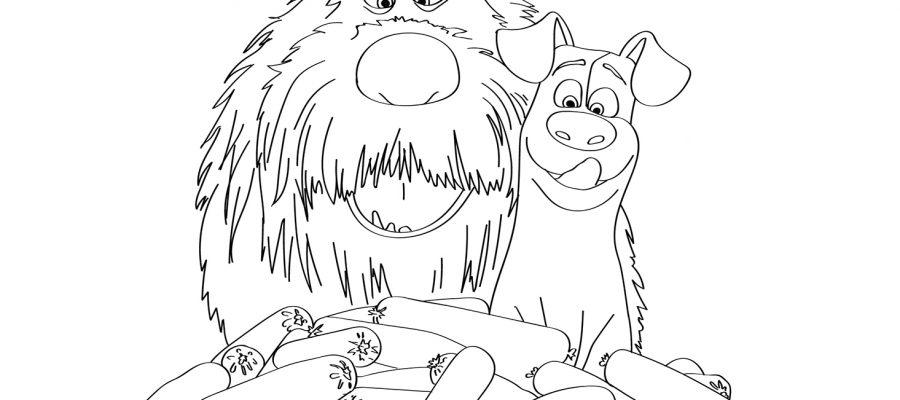 раскраски тайная жизнь домашних животных 2