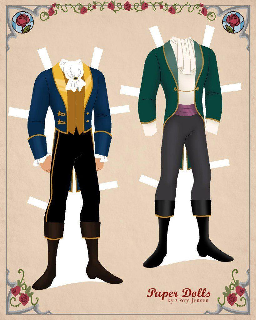Бумажные куклы одевалки-вырезалки с героями мультфильмов