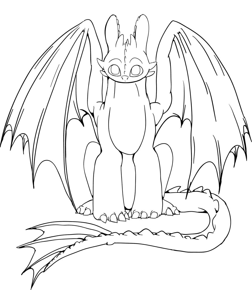 приручить дракона картинки раскраски можно