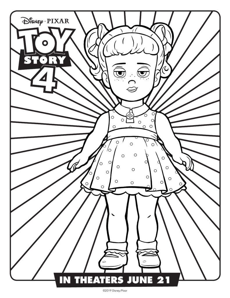 раскраски к новому мультфильму история игрушек 4