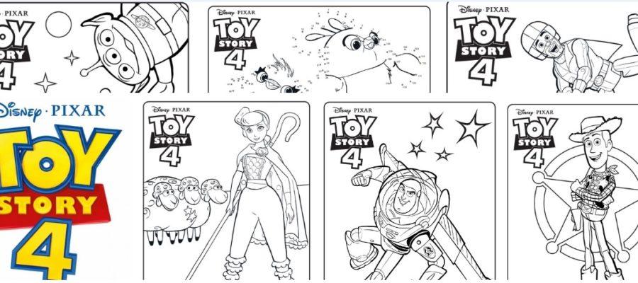 История игрушек 4 раскраски