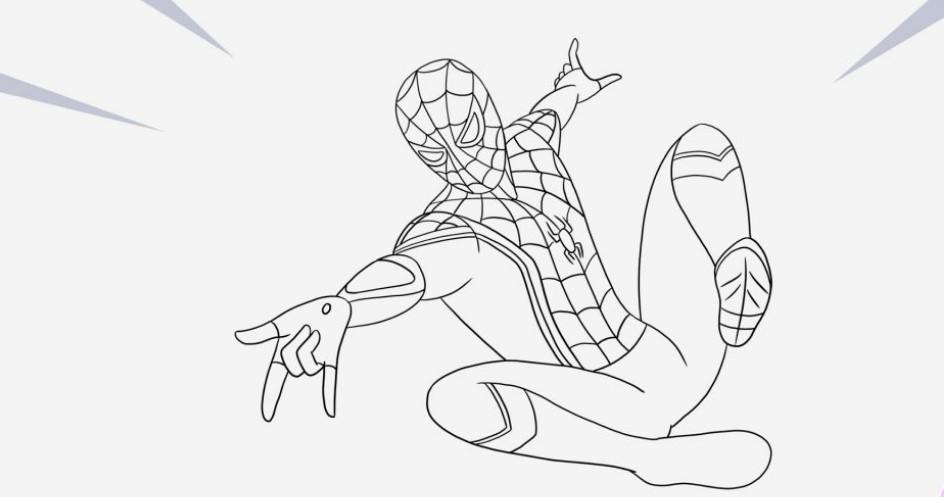 раскраски по фильму человек паук вдали от дома